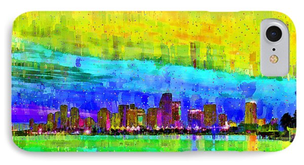 Miami Skyline 142 - Pa IPhone Case