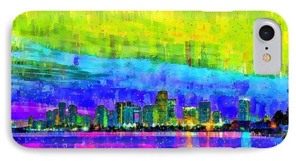 Miami Skyline 153 - Pa IPhone Case