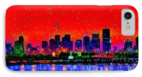 Miami Skyline 20 - Pa IPhone Case