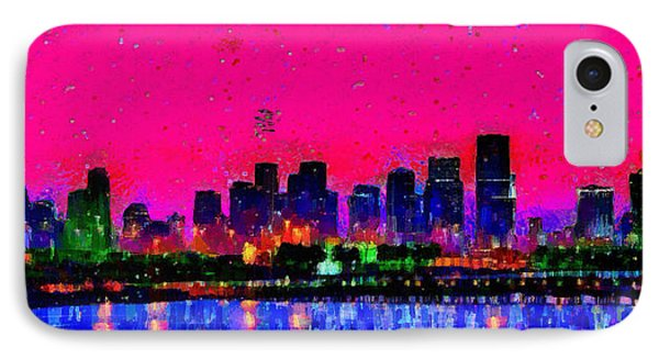 Miami Skyline 23 - Da IPhone Case