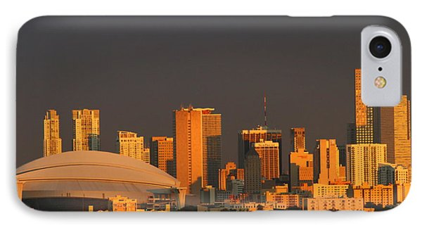 Miami Skyline At Sunset IPhone Case by Christiane Schulze Art And Photography