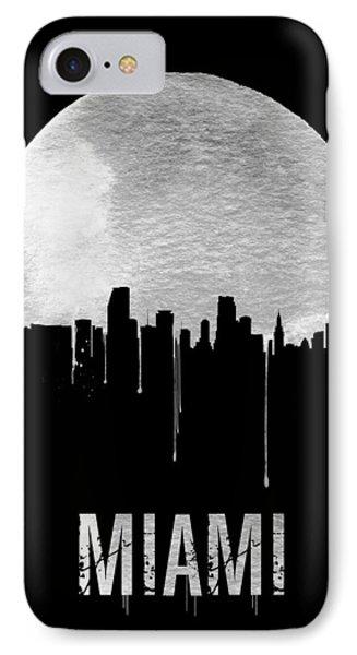 Miami Skyline Black IPhone 7 Case by Naxart Studio