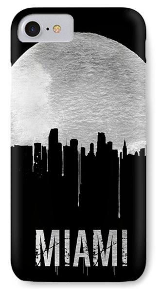 Miami Skyline Black IPhone Case by Naxart Studio