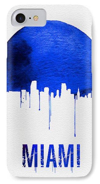 Miami Skyline Blue IPhone Case by Naxart Studio