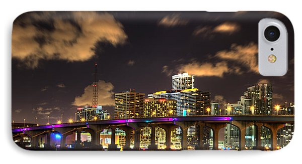 Miami Skyline IPhone Case by Shawn Everhart