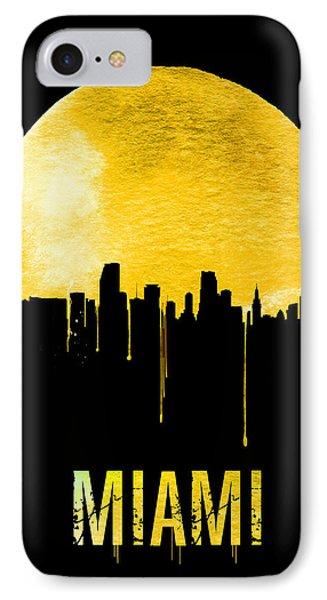Miami Skyline Yellow IPhone Case by Naxart Studio