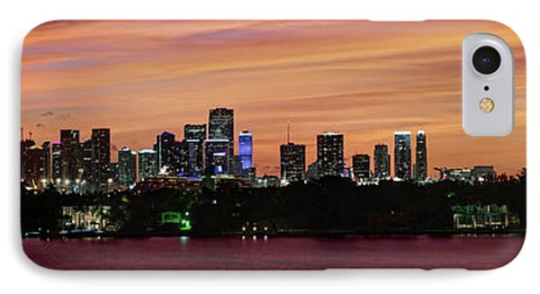 IPhone Case featuring the photograph Miami Sunset Panorama by Gary Dean Mercer Clark