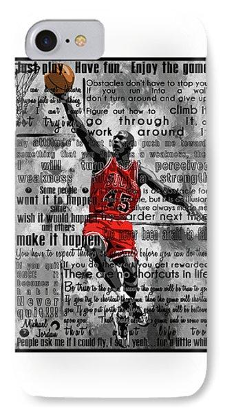 Michael Air Jordan Motivational Inspirational Independent Quotes 2 IPhone Case by Diana Van