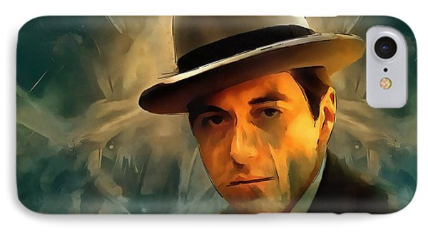 Michael Corleone IPhone Case by Dan Sproul