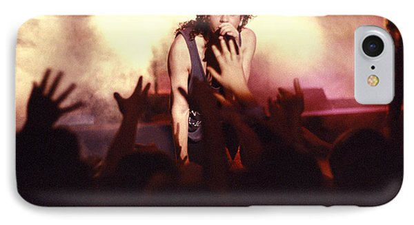 Michael Hutchence And Inxs 1985 Phone Case by Sean Davey