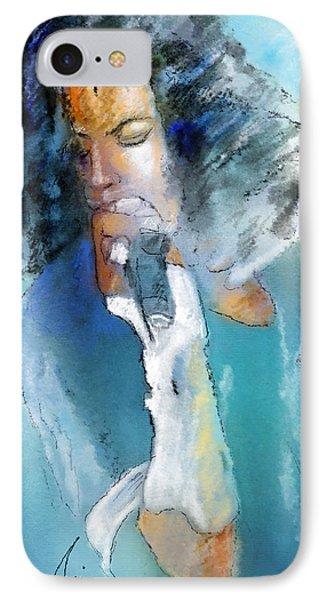 Michael Jackson 04 IPhone Case by Miki De Goodaboom