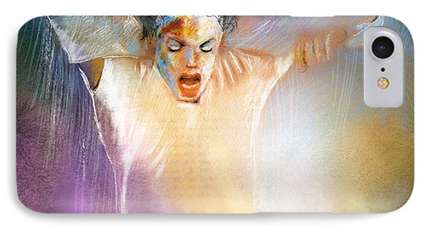 Michael Jackson 09 IPhone Case by Miki De Goodaboom