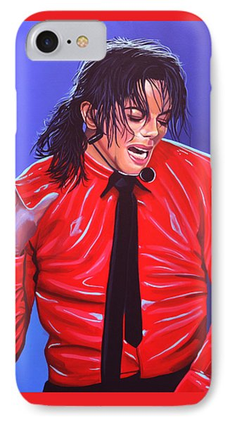 Michael Jackson 2 IPhone 7 Case by Paul Meijering