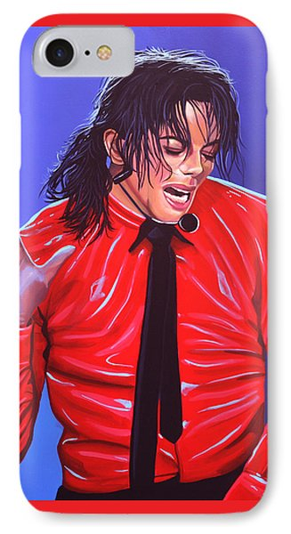 Michael Jackson 2 IPhone Case by Paul Meijering