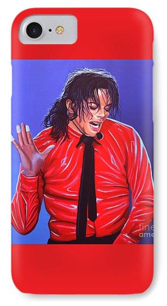 Michael Jackson 2 Phone Case by Paul Meijering