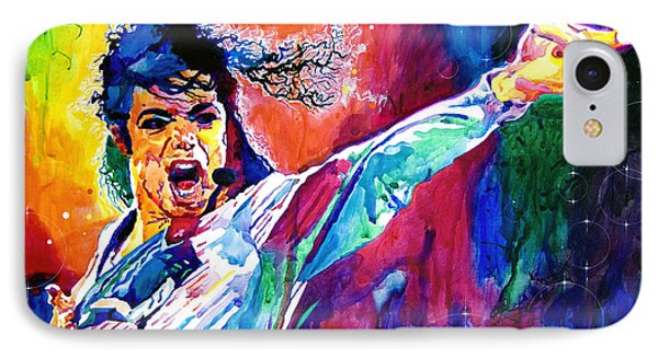 Michael Jackson Force IPhone Case by David Lloyd Glover