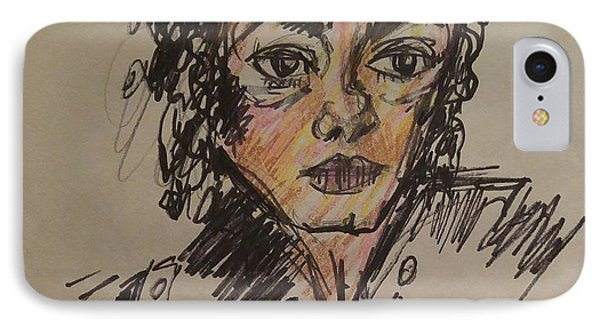 Michael Jackson IPhone Case by Geraldine Myszenski