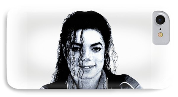 IPhone Case featuring the drawing Michael Jackson Pencil Drawing  by Movie Poster Prints