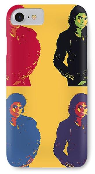 Michael Jackson Pop Art Panels IPhone Case by Dan Sproul
