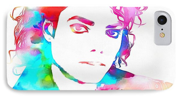 Michael Jackson Watercolor IPhone Case by Dan Sproul