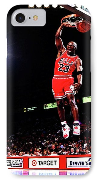 Michael Jordan 23f IPhone Case by Brian Reaves