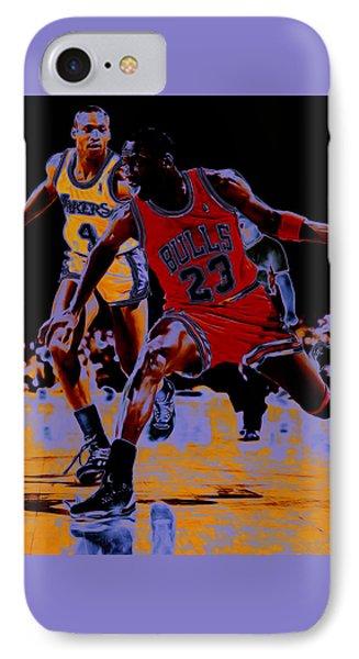 Michael Jordan And Byron Scott IPhone Case