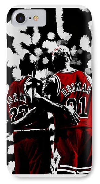 Michael Jordan And Dennis Rodman Last Stand IPhone Case
