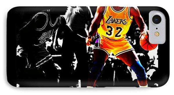 Michael Jordan And Magic Johnson IPhone Case