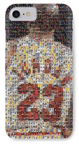 Michael Jordan Card Mosaic 2 IPhone Case by Paul Van Scott