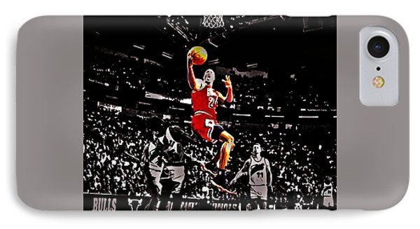 Michael Jordan Caught Them Looking IPhone Case by Brian Reaves