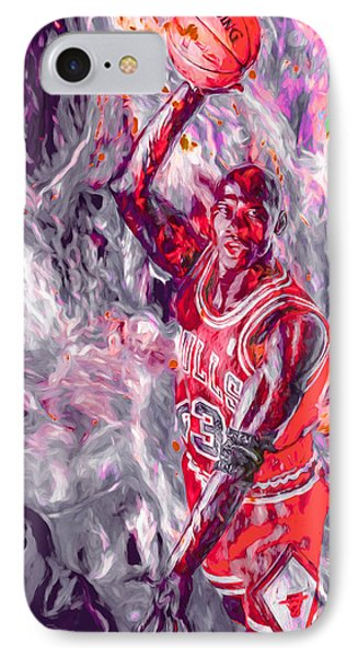 Michael Jordan Chicago Bulls Digital Painting IPhone Case