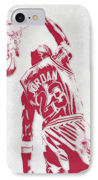 Michael Jordan Chicago Bulls Pixel Art 1 IPhone 7 Case by Joe Hamilton