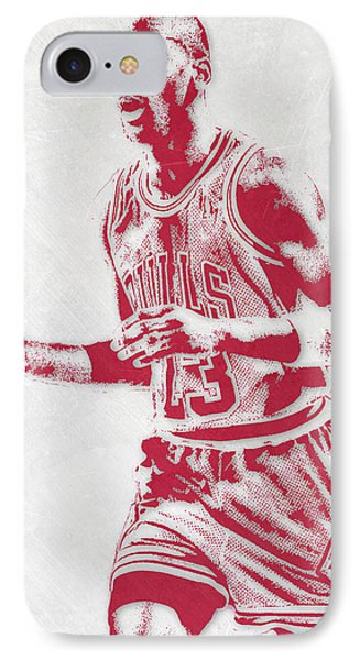 Michael Jordan Chicago Bulls Pixel Art 2 IPhone 7 Case by Joe Hamilton
