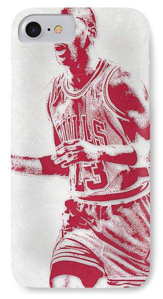 Michael Jordan Chicago Bulls Pixel Art 2 IPhone Case by Joe Hamilton