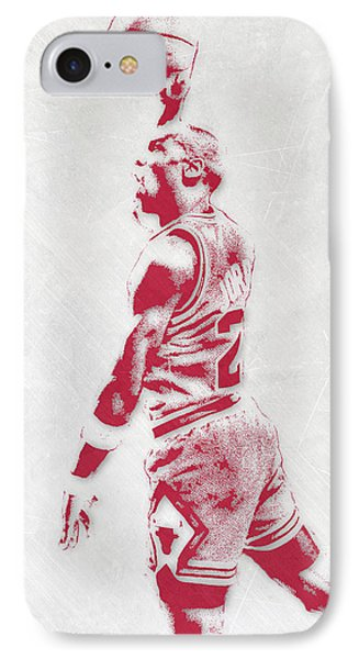 Michael Jordan Chicago Bulls Pixel Art 3 IPhone Case