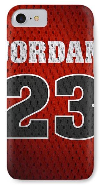 Michael Jordan Chicago Bulls Retro Vintage Jersey Closeup Graphic Design IPhone 7 Case by Design Turnpike