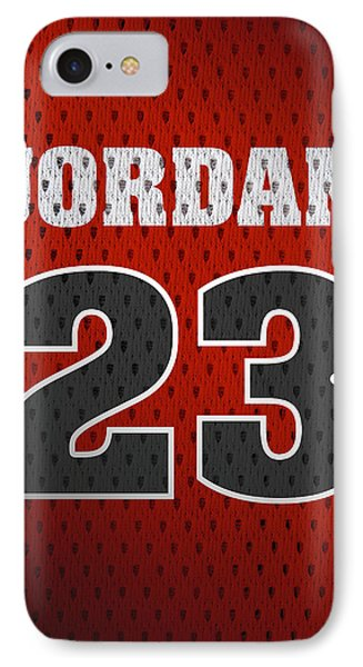 Michael Jordan Chicago Bulls Retro Vintage Jersey Closeup Graphic Design IPhone Case