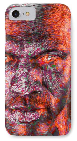 Michael Jordan Digital Painting 2 IPhone Case by David Haskett