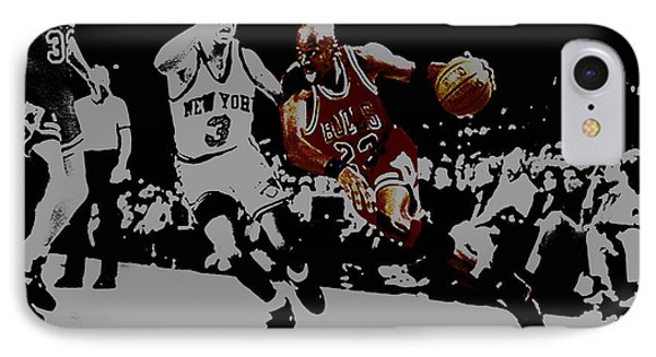 Michael Jordan Drive To The Basket IPhone Case by Brian Reaves