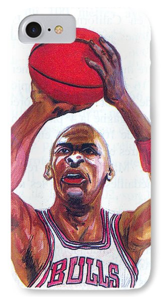 Michael Jordan Phone Case by Emmanuel Baliyanga