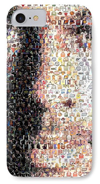 Michael Jordan Face Mosaic IPhone Case by Paul Van Scott
