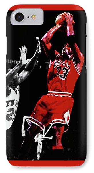 Michael Jordan Fade Away 1a IPhone Case by Brian Reaves