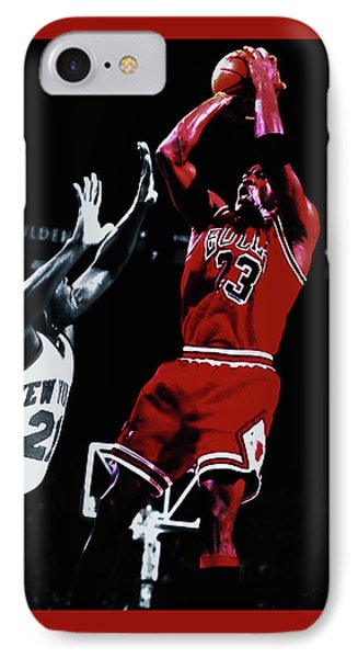 Michael Jordan Fade Away IPhone Case by Brian Reaves