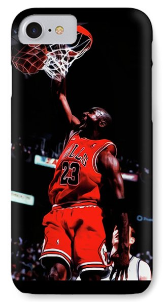 Michael Jordan Game Point IPhone Case by Brian Reaves