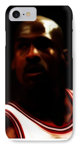 Michael Jordan Game Time IPhone Case by Brian Reaves