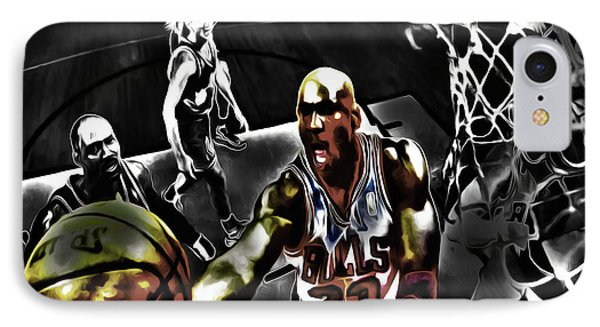 Michael Jordan Got Em Looking IPhone Case by Brian Reaves
