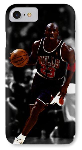 Michael Jordan In Open Court IPhone Case