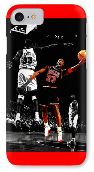 Michael Jordan Left Hand IPhone Case by Brian Reaves