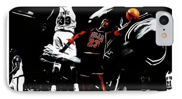 Michael Jordan Life Of Excellence IPhone Case by Brian Reaves