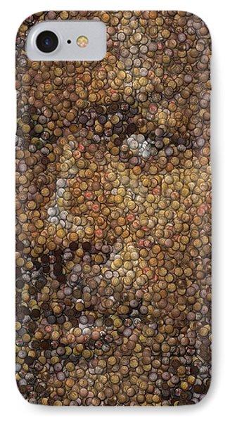 Michael Jordan Money Mosaic Phone Case by Paul Van Scott